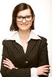 affärsståendekvinna Arkivfoto