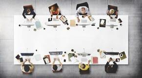 AffärsTeam Meeting Connection Digital Technology begrepp Arkivbild