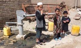 Afgańscy dzieci przy pracą fotografia royalty free