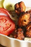 Afgański kurczak Kebab - kurczaka naczynie robić od piec na grillu kurczaka zdjęcia stock