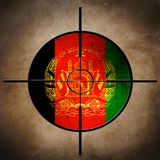 Afgan flag target Stock Images