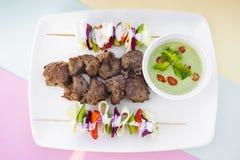 Afgan kebab,它是阿富汗传统食谱 免版税图库摄影