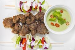 Afgan kebab,它是阿富汗传统食谱 免版税库存图片