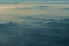 Afganistán en la niebla imagen de archivo libre de regalías