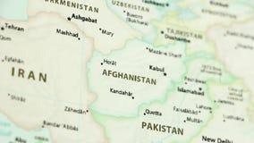 Afganistán en un mapa con defocus stock de ilustración
