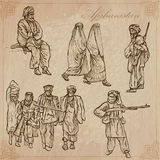 afganistán Paquete dibujado mano del vector ningún Imagen de archivo libre de regalías