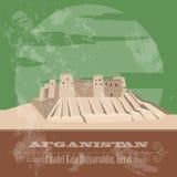 Afganistan landmarks. Retro styled image Royalty Free Stock Images