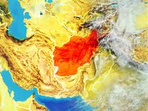 Afganistan na ziemi od przestrzeni ilustracji