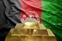 Afganistan złociste rezerwy fotografia stock