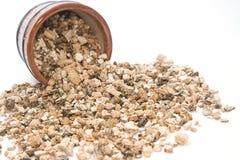 Afgebladderd perliet en Vermiculiet Royalty-vrije Stock Afbeelding