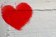 Afgebrokkeld hart Stock Afbeeldingen