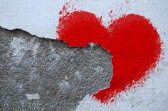 Afgebrokkeld hart Stock Afbeelding