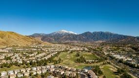 Afgedekte de sneeuw zet San Gorgonio, San Bernardino Mountains, Zuidelijk Californië op royalty-vrije stock afbeeldingen