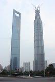 Afgedekte Jinmao-Toren Stock Afbeeldingen