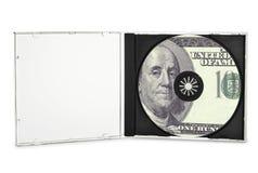 Afgedrukte compact disc Stock Afbeeldingen