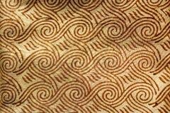Afgedrukte Indische zijde Stock Afbeeldingen
