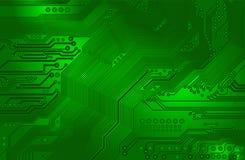 Afgedrukte kring - motherboard Stock Fotografie