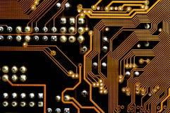 Afgedrukte kring - motherboard stock foto