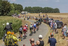 Afgescheiden - Ronde van Frankrijk 2018 Royalty-vrije Stock Afbeeldingen