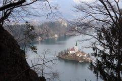Afgetapt eiland en kasteel royalty-vrije stock foto's