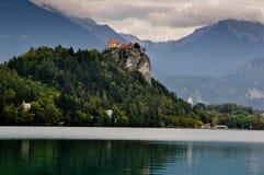 Afgetapt meer in Slovenië Royalty-vrije Stock Foto's