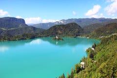 Afgetapt Meer, Slovenië Stock Afbeeldingen