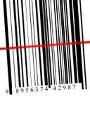 Afgetaste streepjescode Royalty-vrije Stock Foto's