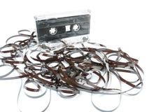 Afgewikkelde cassetteband Stock Afbeelding