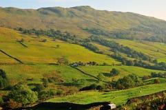 """Afgezonderd Cumbrian-Landbouwbedrijf van de """"Strijd"""". Royalty-vrije Stock Fotografie"""