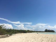 Afgezonderd strand, Cuba Stock Afbeelding