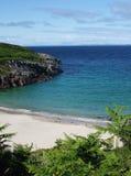 Afgezonderde Baai dichtbij Sanaigmore, Islay, Schotland stock afbeeldingen