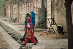 Afghaans Vrouw en meisje royalty-vrije stock fotografie