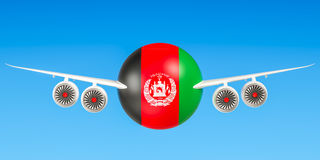 Afghan airlines and flying`s concept. 3D rendering Royalty Free Stock Photos