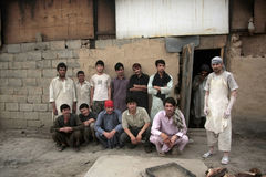Afghan Bakery Workers Stock Photo