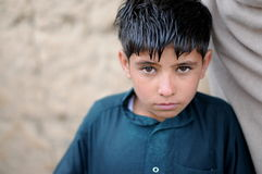 Afghan boy. An Afghan Boy in the Altimur village, Logar Province, Afghanistan, summer 2011 Royalty Free Stock Photo
