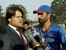 Afghan Captain & Manager talks to media Royalty Free Stock Photography
