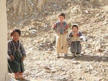 Afghan children stock image
