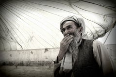 Afghan elder Stock Photography