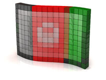Afghan Flag of pixel Royalty Free Stock Photos