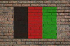 Afghan flag on wall Royalty Free Stock Image