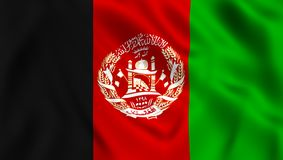 Afghan flag waving in the wind vector illustration
