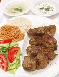 Afghan Grilled Lamb Dish Royalty Free Stock Photo