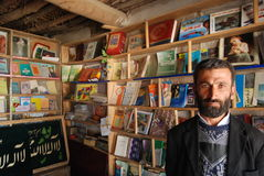 Afghan man in his shop Royalty Free Stock Photos