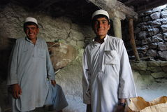 Afghan mill. Afghan boys working in a mill in Azra district, Logar Province, June 2009 Royalty Free Stock Photo