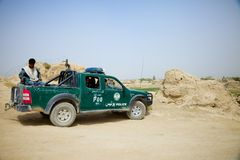 Afghan National Police Go on a Mission Royalty Free Stock Photography