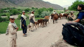 Afghan peasants in Afghanistan Royalty Free Stock Photo