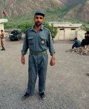 Afghan policeman. An Afghan policeman posing in Azra district, Logar Province, Afghanistan, June 2009 Stock Photography