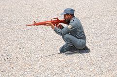Afghan policemen's training 3 Royalty Free Stock Images