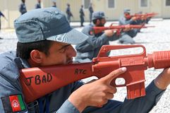 Afghan policemens training 4 Royalty Free Stock Photography
