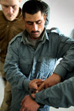 AFGHAN PRISON SERVICE TRAINING WITH SUPERVISORS stock photography